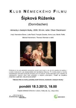 KLUB NEMECKEHO FILMU - Sipkova Ruzenka jpg