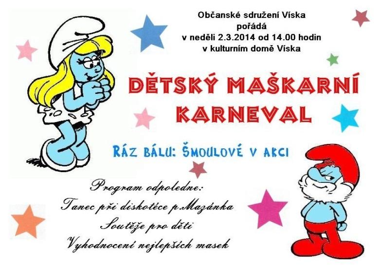 detsky karneval v KD Viska