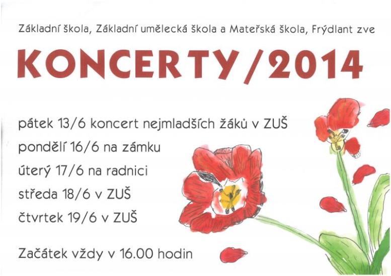 13.,16.,17.,18.,19.6. Koncerty 2014