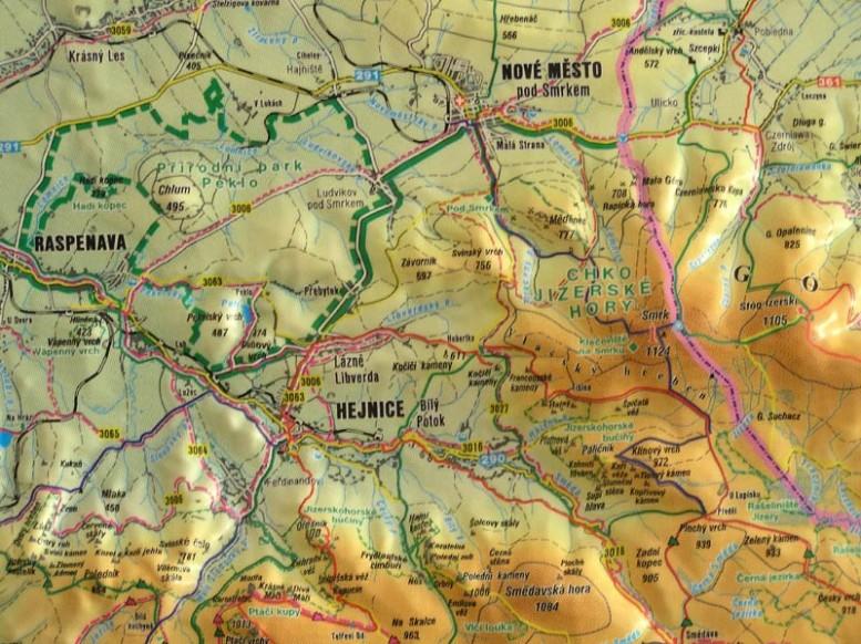 mapa turista