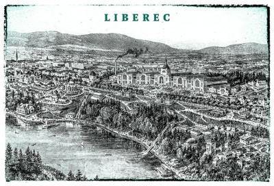 Poster Liberec / Okolo Roku 1906
