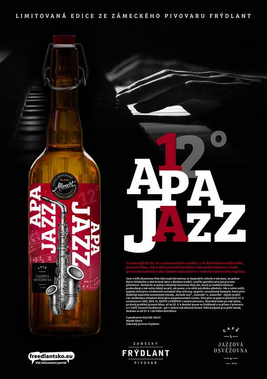 APA JAZZ 12° to je limitovaná edice piva z frýdlantského pivovaru