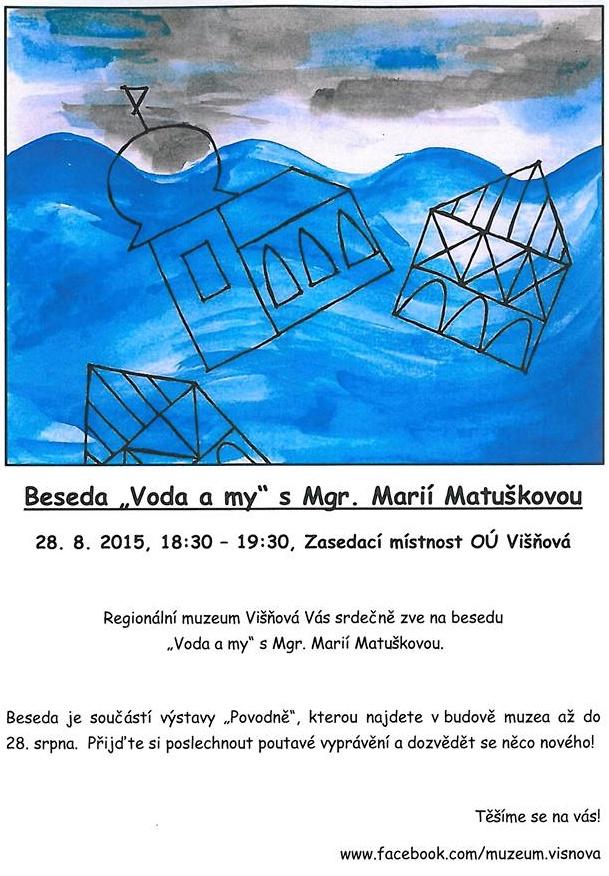 "Beseda ""Voda a my"" s Mgr. Marií Matuškovou"