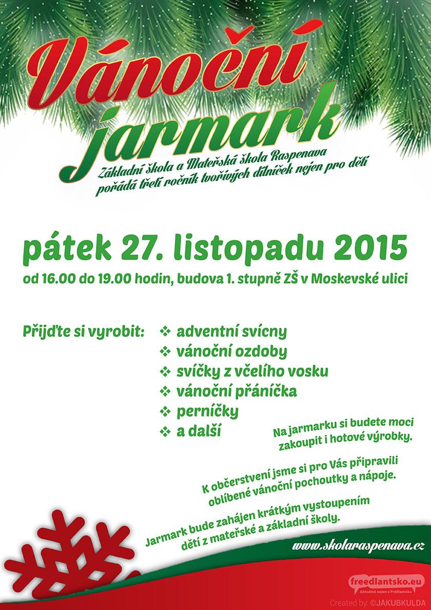 Vánoční jarmark v Raspenavě bude už zítra
