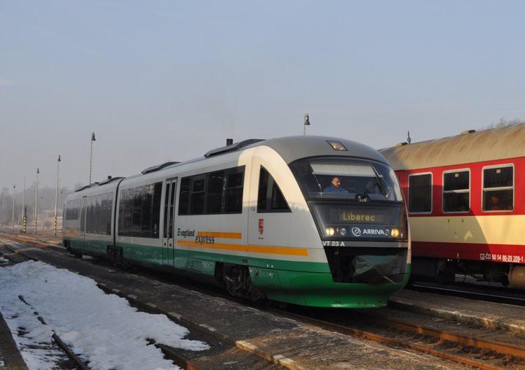 O adventních sobotách pojede z Liberce do Drážďan víc vlaků