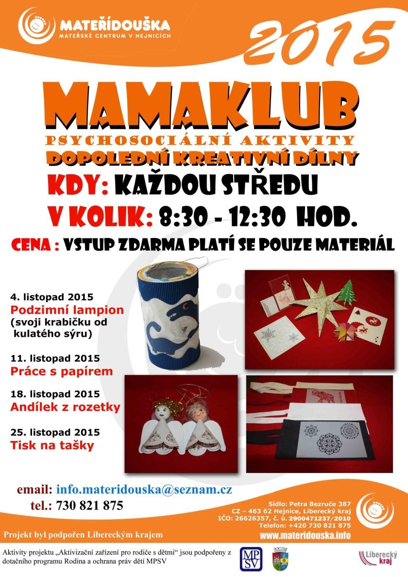 MAMAKLUB – program na listopad
