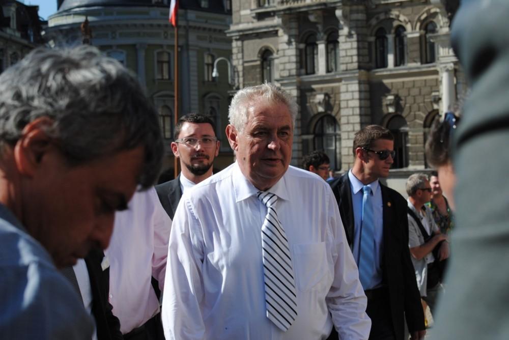 Miloš Zeman po deseti měsících navštíví Liberec, chystá se na slavnostní otevření hospice