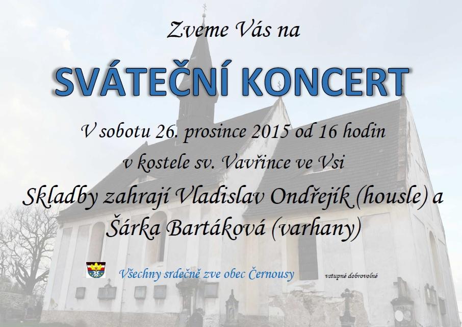 Sváteční koncert v kostele svatého Vavřince ve Vsi