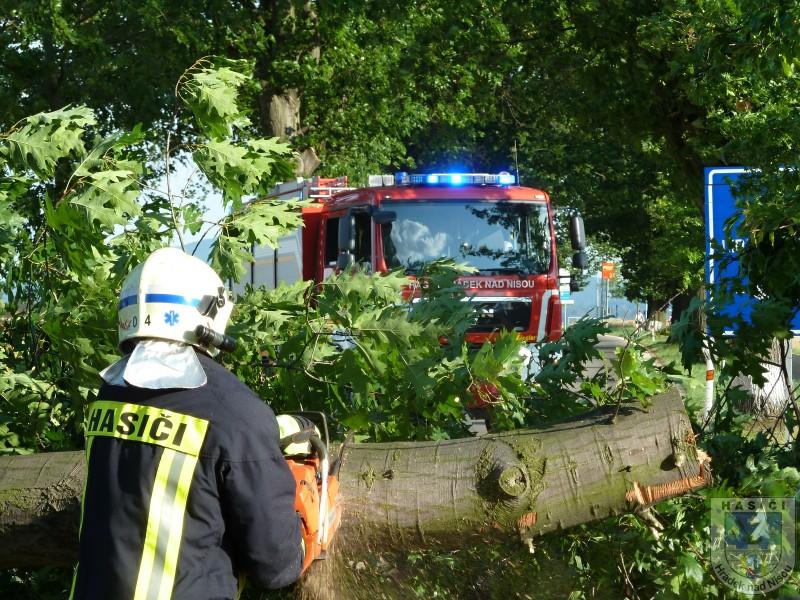 Policie vyšetřuje smrt muže v Dolní Řasnici. Osudným se mu mělo stát prořezávání stromů