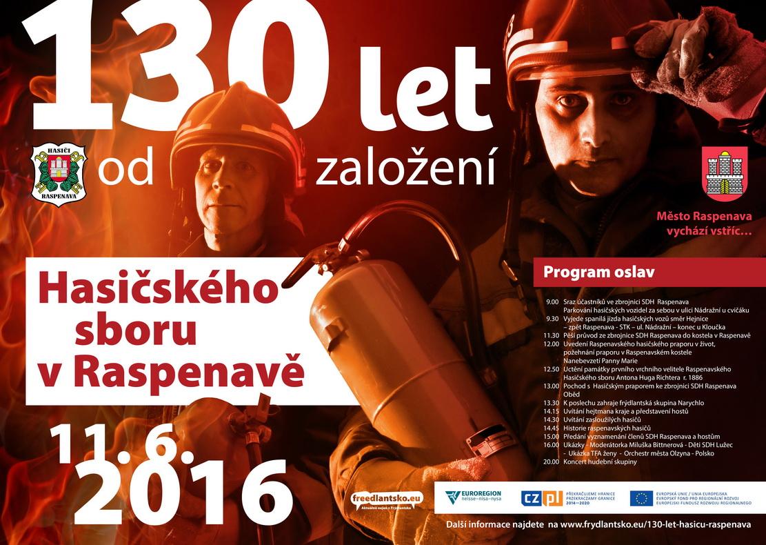 130 let od založení hasičského sboru v Raspenavě