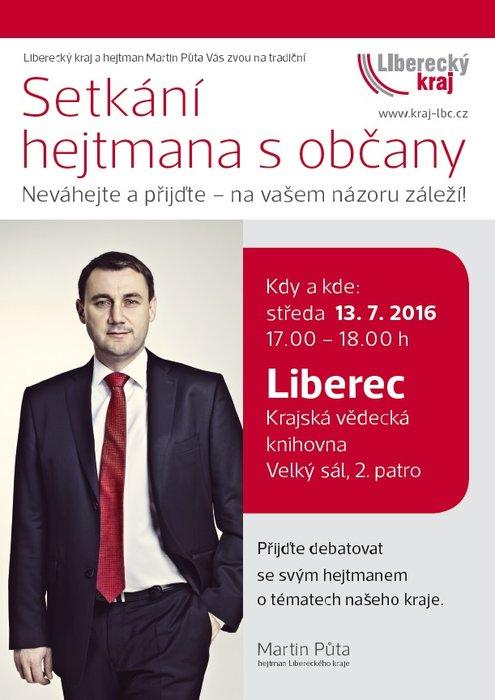 Občané Liberce, zeptejte se hejtmana, Váš názor ho zajímá!