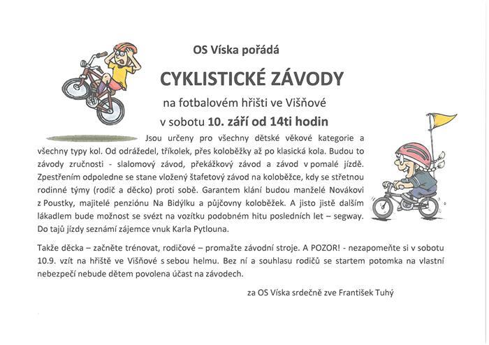 Cyklistické závody ve Višňové