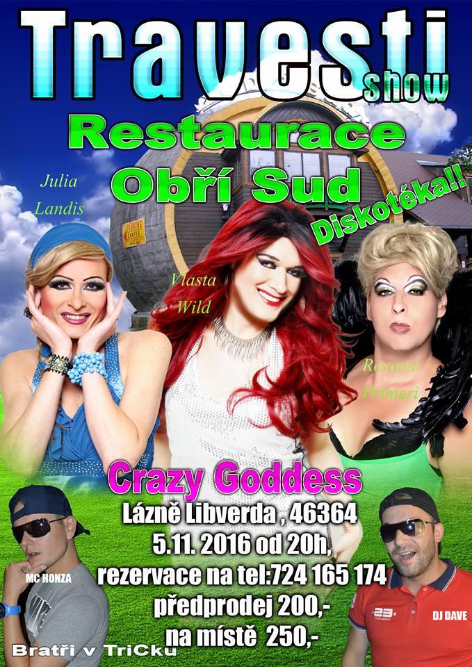 Travesti show na Obřím Sudě
