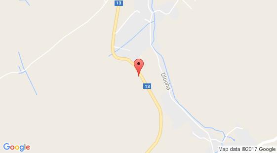 Nehoda na silnici 13 u obce Frýdlant okres Liberec; ve směru od Frýdlantu na Liberec, za čerpací stanicí, km 204