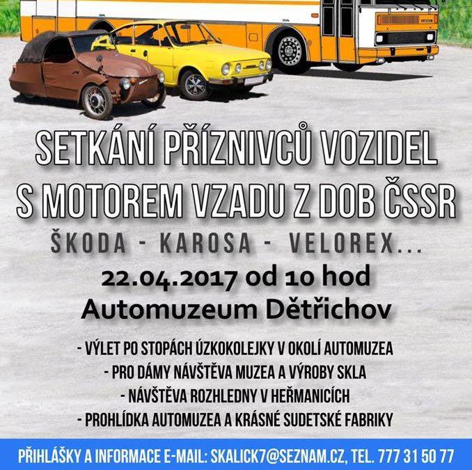 Setkání příznivců vozidel s motorem vzadu z dob ČSSR