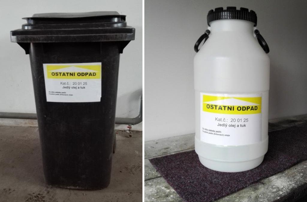 V Hejnicích sbírají oleje a tuky, aby chránili kanalizační potrubí
