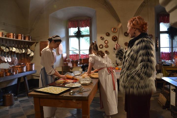 Pečení koláčků na frýdlantském zámku
