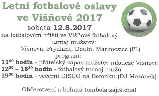 Letní fotbalové oslavy ve Višňové