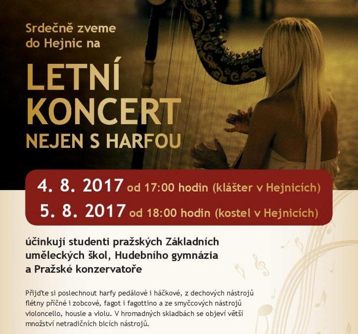 Letní koncert nejen s harfou