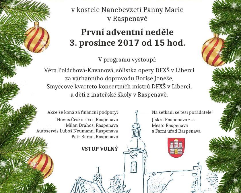 Adventní koncert v Raspenavě