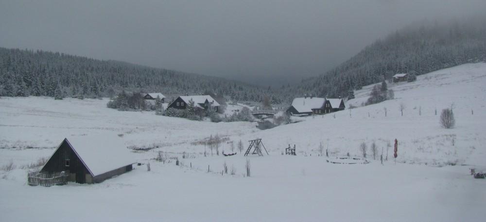 V Jizerských horách klesly teploty pod minus 22 stupňů Celsia