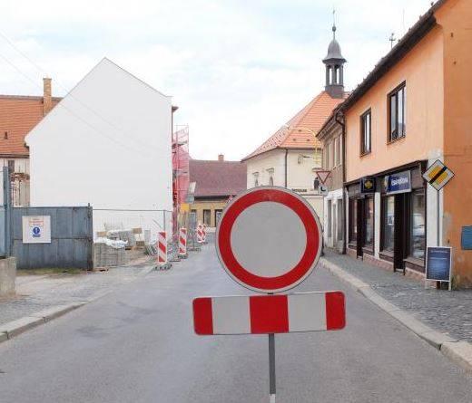 Část ulice Míru je úplně uzavřena