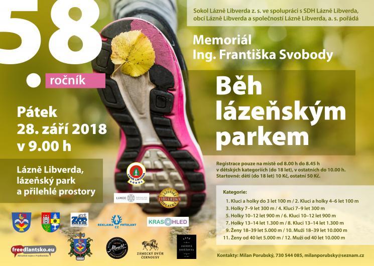 Běh lázeňským parkem 2018 - Memoriál Ing. Františka Svobody