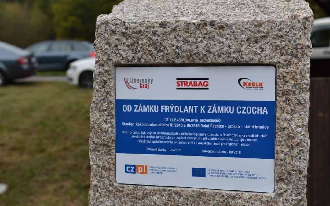 Od zámku Frýdlant k zámku Czocha mohou řidiči cestovat po nových silnicích