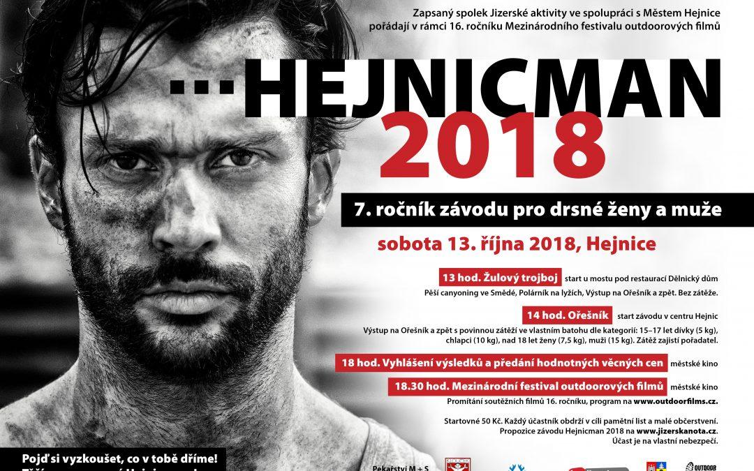 Hejnicman 2018 a přehlídka nejlepších outdoorových filmů v Hejnicích a ve Frýdlantě
