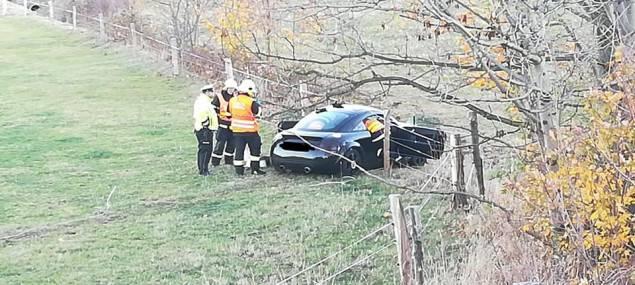 FOTO: Nehoda před Dětřichovem. Felicie se srazila s audinou