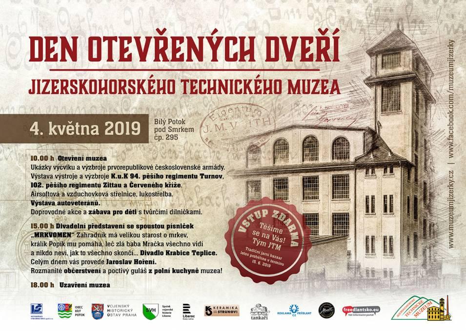 Den otevřených dveří Jizerskohorského technického muzea v Bílém Potoce / 2019