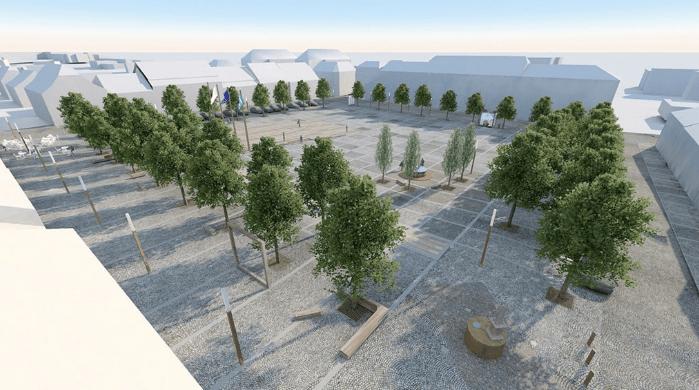 Kašna a méně zeleně. Plánovaná podoba náměstí v Novém Městě narazila