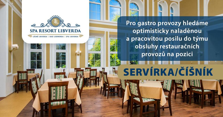 Spa Resort Libverda hledá zaměstnance na pozici Servírka / Číšník
