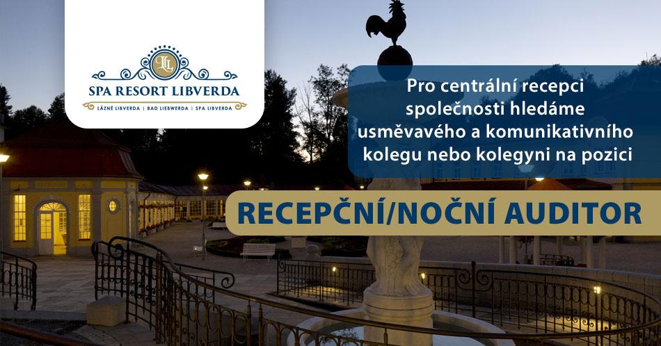 Spa Resort Libverda hledá zaměstnance na pozici Recepční / Noční auditor