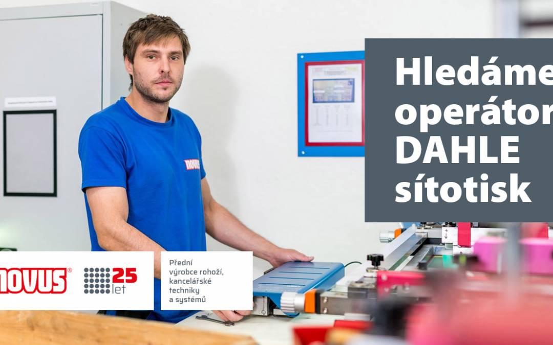 Společnost Novus nabízí volnou pracovní pozici Operátor DAHLE sítotisk