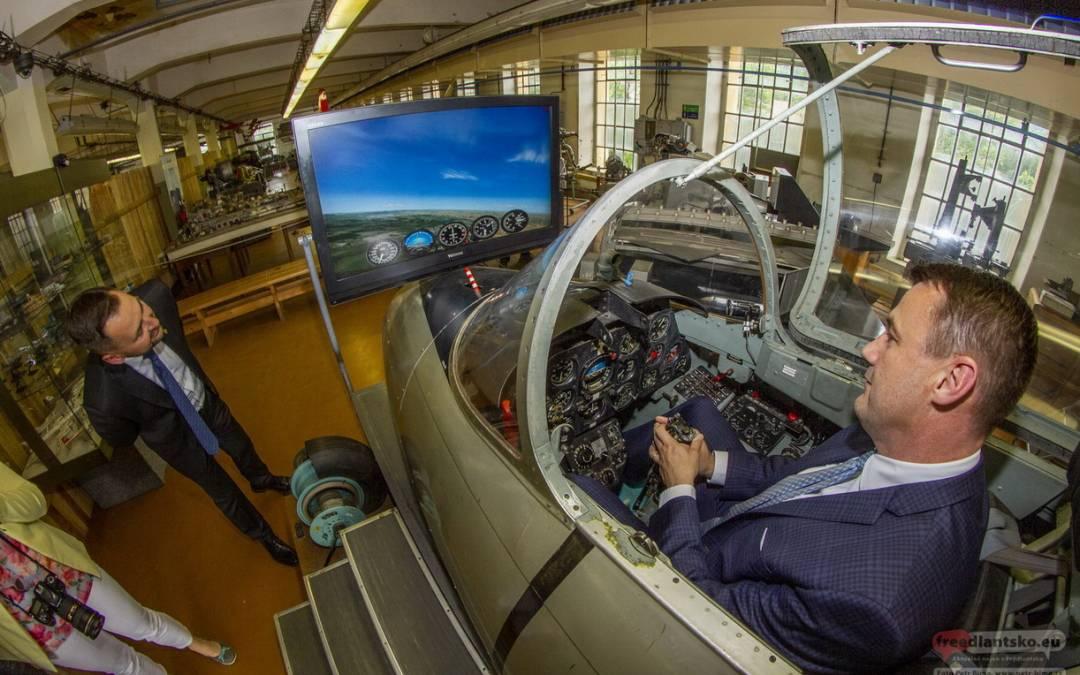 Jizerskohorské technické muzeum poctil svoji návštěvou hejtman Libereckého kraje Martin Půta
