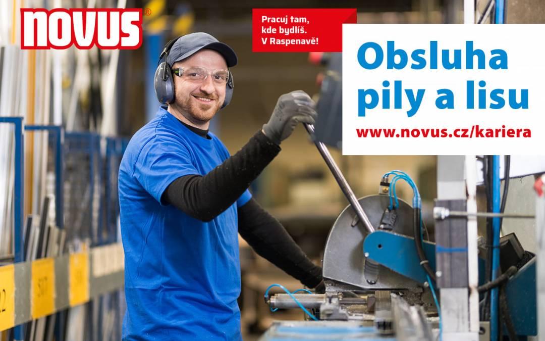 """Raspenavský Novus nabízí volnou pracovní pozici """"Obsluha pily a lisu"""""""