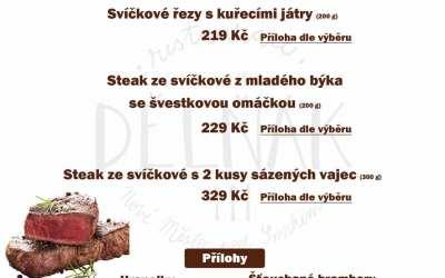 Víkend z hovězí svíčkové v restauraci Dělňák v Novém městě pod Smrkem