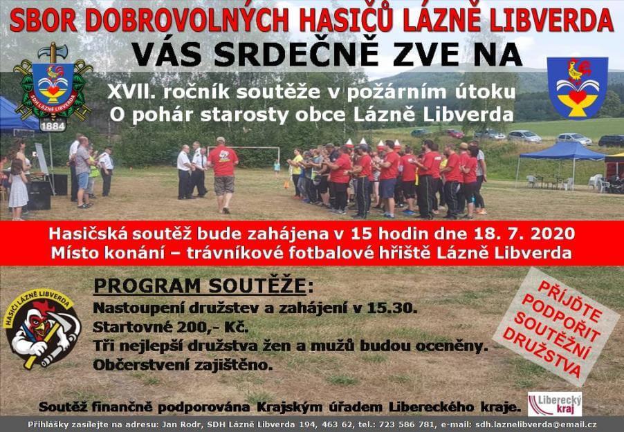 Hasičská soutěž – O pohár starosty obce Lázně Libverda