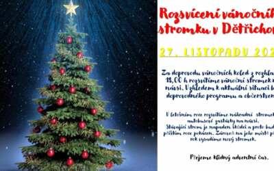 Rozsvícení vánočního stromku v Dětřichově