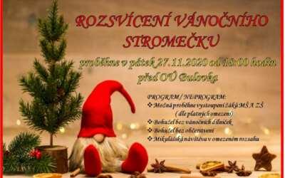 Rozsvícení vánočního stromečku v obci Bulovka
