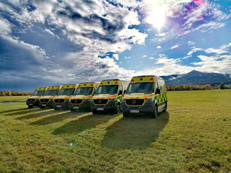 Kraj koupil šest sanitek pro Zdravotnickou záchrannou službu