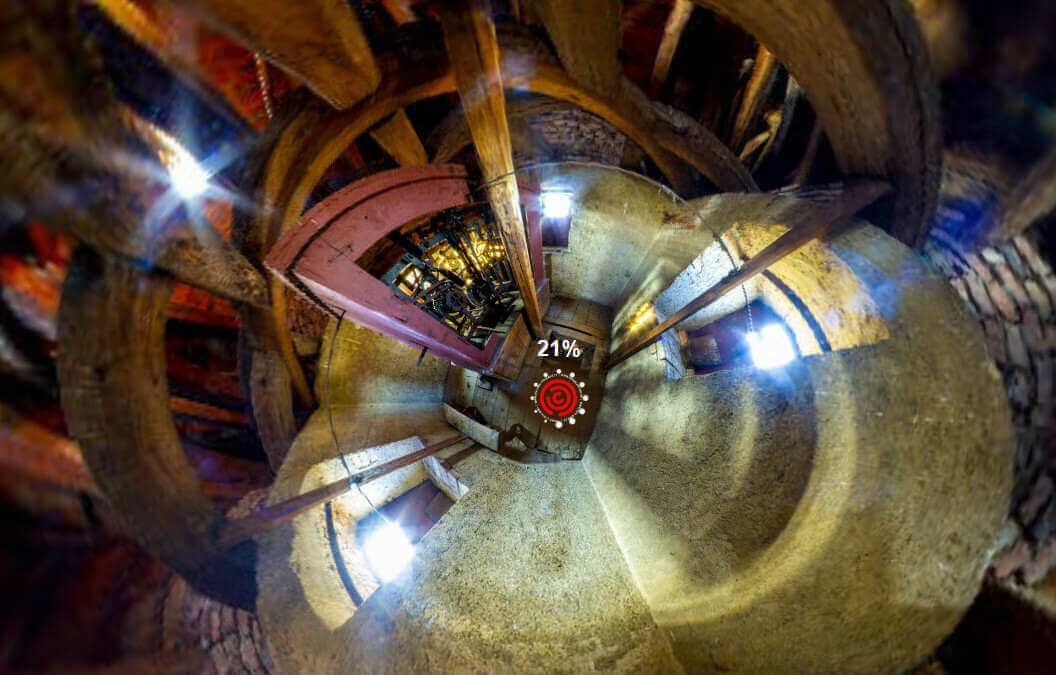 Virtuální prohlídka věže kostela v Kunraticích / Sbírka na opravu věžních hodin kostela