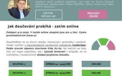 Doučování angličtiny s rodilým mluvčím pro děti 2. stupně z Frýdlantu online a zdarma