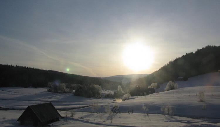 Zima se nevzdává. Na Jizerce bylo minus 21 stupňů Celsia