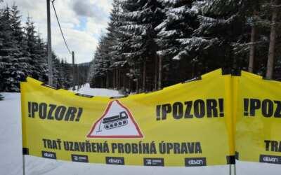 Na horách je sněhu stále dost, Jizerská magistrála už ale skončila s úpravou tras. Nastupují lesníci