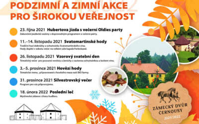 Podzimní a zimní akce v Zámeckém dvoře Černousy 2021 /2022